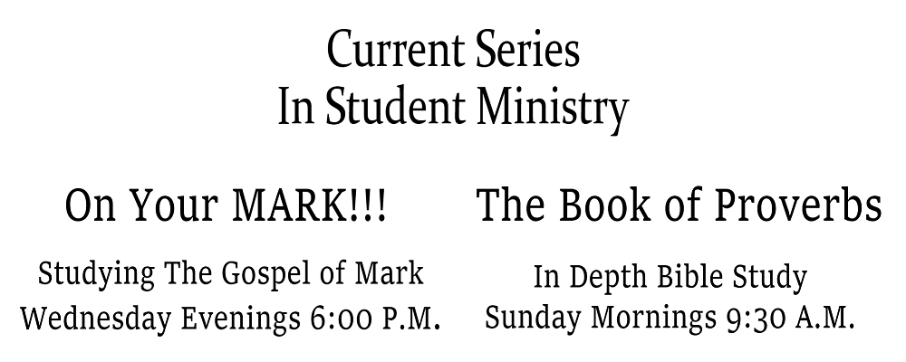 current series student ministry